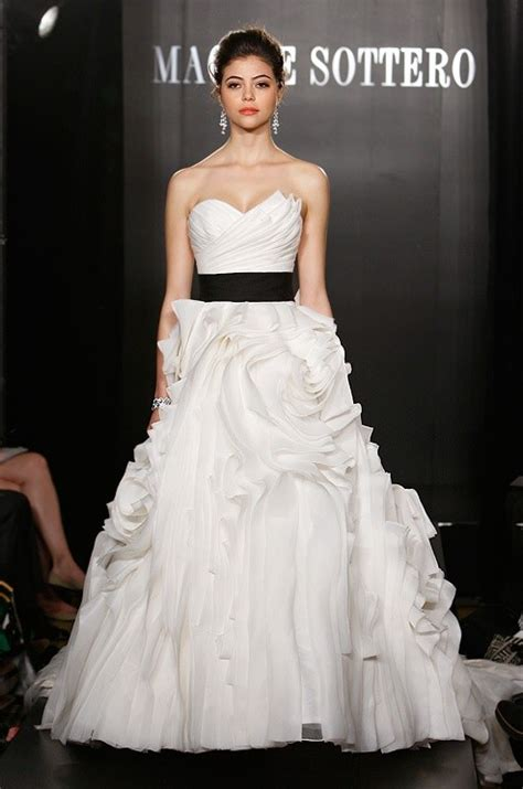 sweet wedding dresses with black belt sang maestro