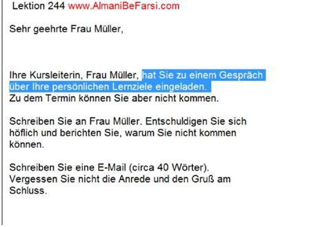 Deutsche Brief Beispiel lektion 244 brief schreiben b1 aufgabe 3