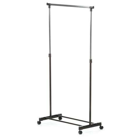 rolling garment rack honey can do adjustable steel rolling garment rack in