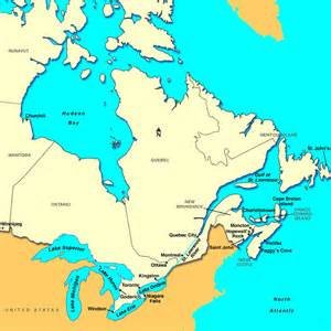 map eastern us and canada canada map east