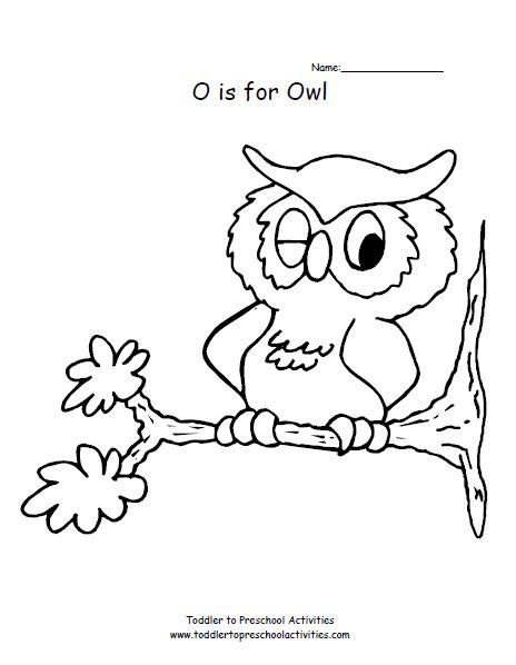 O The Owl Coloring Page by O Is For Owl Coloring Page Coloring Pages