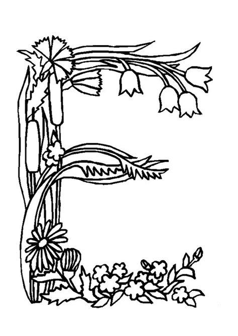 E T Coloring Pages by Coloriage Alphabet Fleurs E Sur Hugolescargot