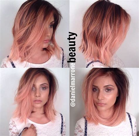 ambre hairstyle on short hair 25 best ideas about dark roots hair on pinterest