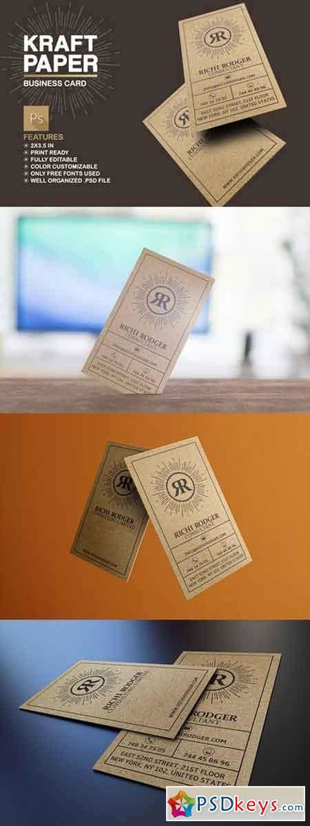 printable kraft paper business cards kraft paper business card 512009 187 free download photoshop