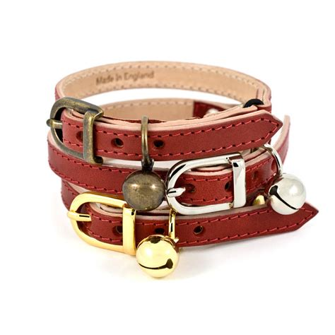 Cat Leather by Leather Cat Collar By Linny Notonthehighstreet