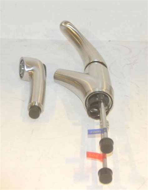 Eclipse Faucet by Eclipse Single Lever Pull Out Spout Kitchen Faucet Stainless Steel Kps3029 Ebay