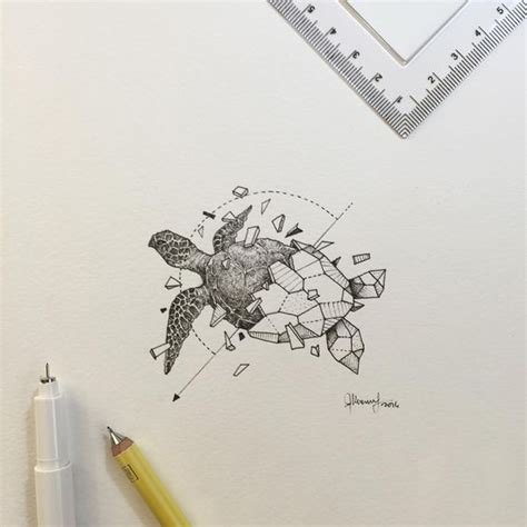 geometric turtle coloring page geometric beasts sea turtle kerby rosanes coloring