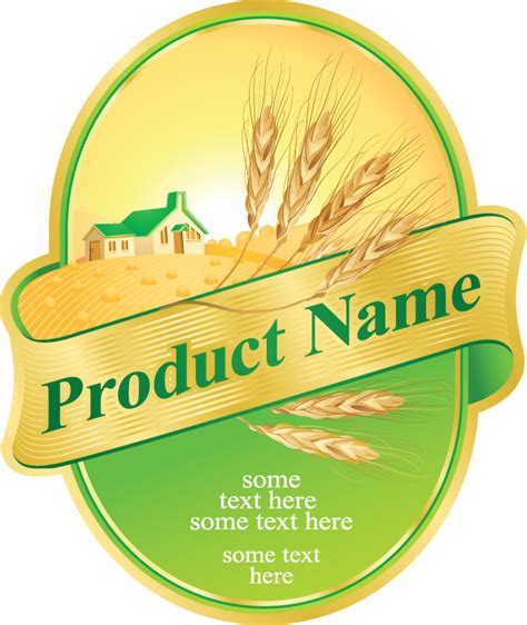 Design Product Label Online | product label design 05 vector free vector 4vector