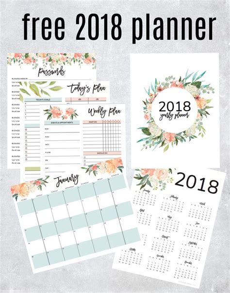 free printable goal planner 2018 get your free 2018 printable planner with daily weekly