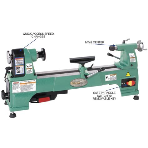 bench wood lathe grizzly mc254 cast iron bench top wood lathe 10 inch amazon ca tools home improvement