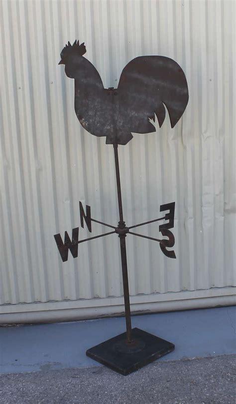 Handmade Weathervanes - 19th century handmade sheet iron rooster weather vane for