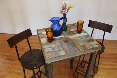 Reclaimed Wood Bistro Table Reclaimed Pallet And Barn Wood Pub Bistro Kitchen End Table