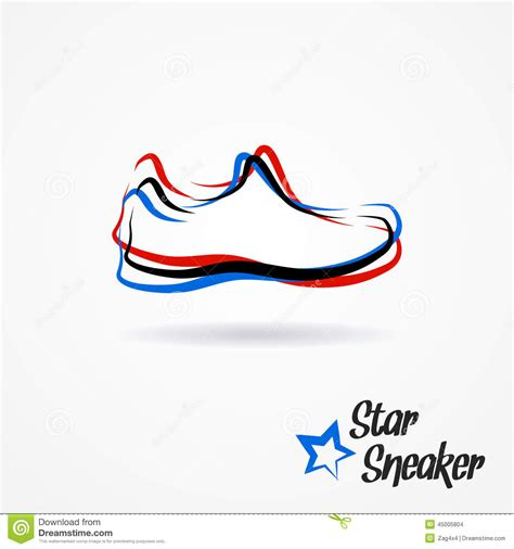 sneaker logo design sneaker logo stock illustration image 45005804