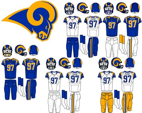 Kaos Sport Football Los Angeles Rams Alternate Logo 2 2016 Pres 1 rams new quot classic quot look concepts chris creamer s