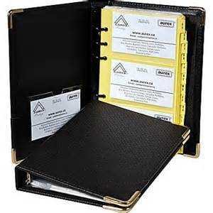 3 ring binder business card holder aurex 174 executive business card holder black ring binder