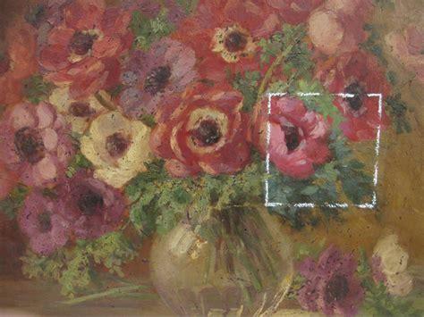 quadro di fiori restauro quadro antico rinascita di fiori restauro quadri
