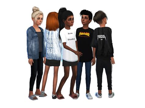 sims 4 children cc kids streetwear collection no2 simsrunway sims 4