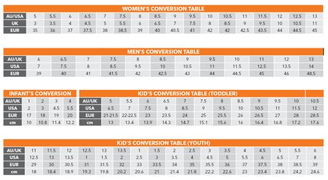 shoe size chart converter australian european shoe size conversion chart size and