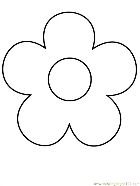 Printable Flowers Shapes | simple flower coloring pages coloring pages