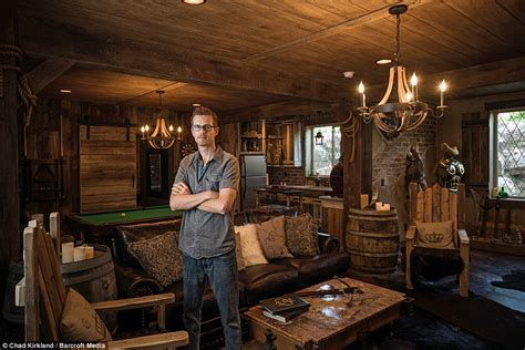 Home Cinema Decorating Ideas by Utah Man Spends Three Years And 50k Creating Elder