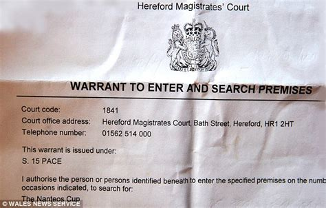 Search Warrant Uk Twelve And A Raided Pub In Hunt For Missing Relic Thought To