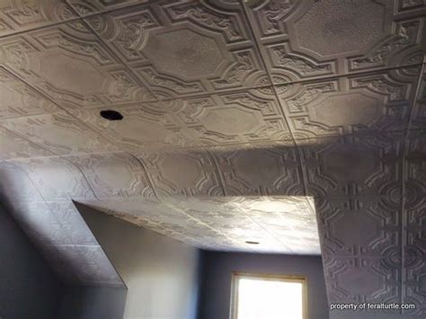 Install Ceiling Tiles by Faux Tin Ceiling Tiles Easy To Install Diy Home Decor