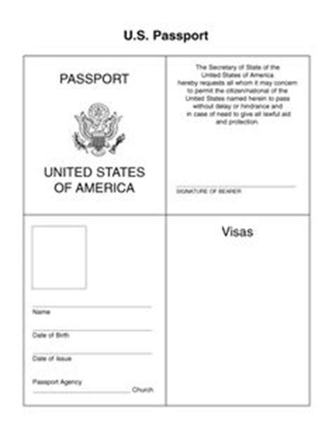 Passport Template Passport Passport Template And Pilgrimage Editable Passport Template