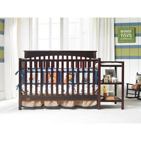 graco crib with changing table graco woodbridge 4 in 1 fixed side crib and changing