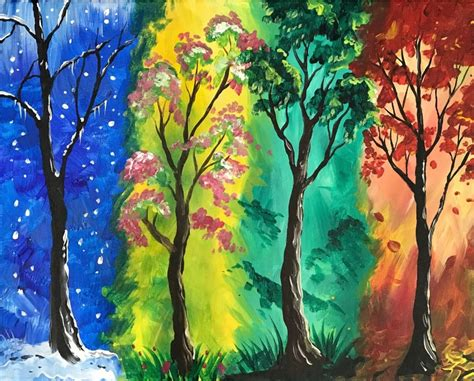 4 Paintings In One by Four Seasons Create It