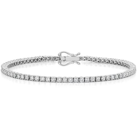 1 Ct Tw Tennis Bracelet by 18k White Gold Tennis Bracelet 3 Ct Tw