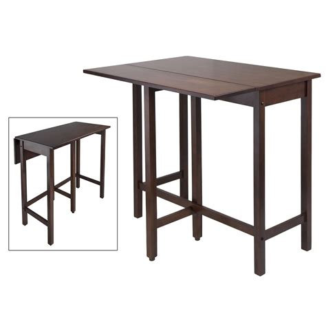 winsome lynden drop leaf dining table drop leaf high table by winsome 94149 in dining tables
