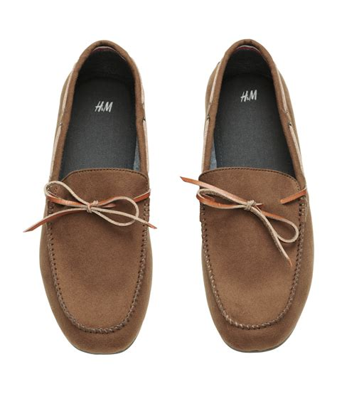 h loafers h m loafers in brown for lyst