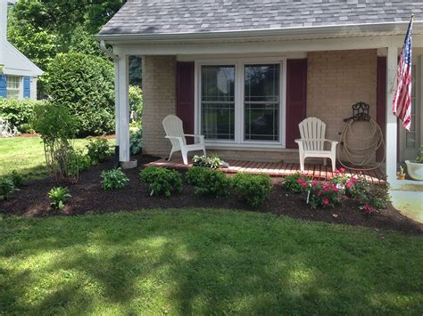 front landscape remodel in arlington heights landscaping