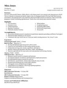 Resume Templates Attorney Attorney Resume Sles Template Resume Builder