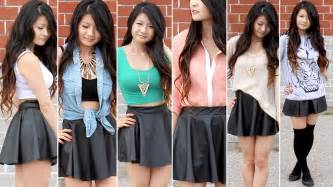 Lookbook styling leather skirts outfits summer spring fall