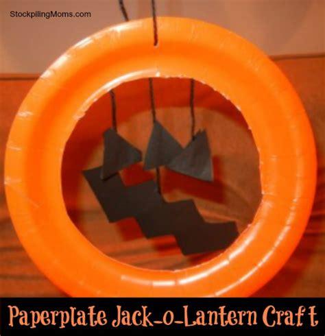 O Lantern Paper Craft - paper plate o lantern