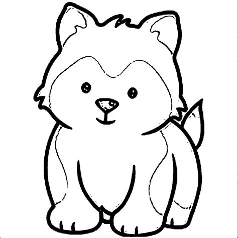 Coloring Pages Of Husky Puppies | siberian husky coloring pages az coloring pages
