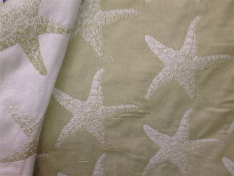 Starfish Upholstery Fabric by Reversible Starfish Upholstery Decor Fabric Coastal