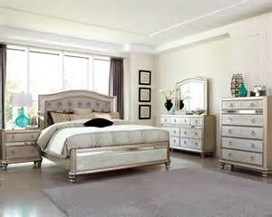 bling metallic platinum panel bedroom set from
