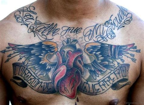 heart tattoos on chest 81 mind blowing tattoos on chest