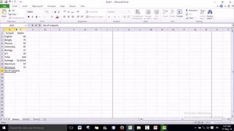 excel bangla tutorial excel bangla tutorial 12 count formula youtube