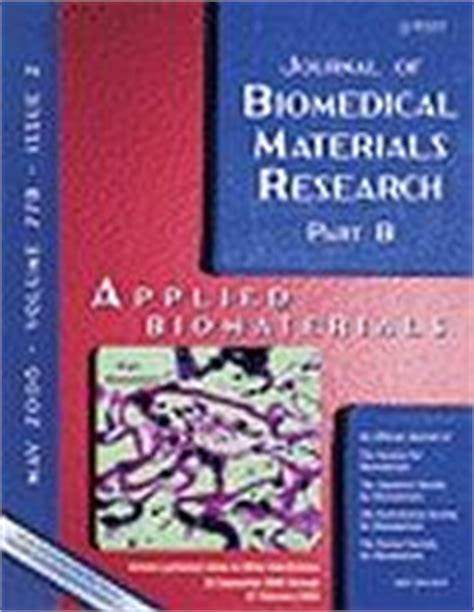 journal of biomedical materials research part b applied