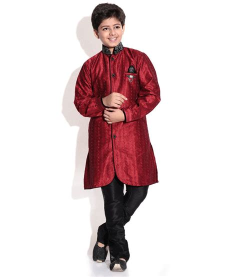 kurta colors riwaaz mehroon color kurta pajama set with jacket for kids