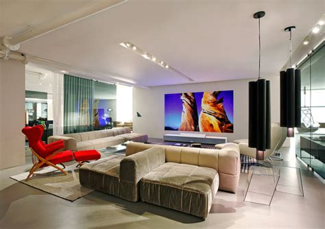 projector in living room sony 4k ultra short throw projector at ddc ny modern