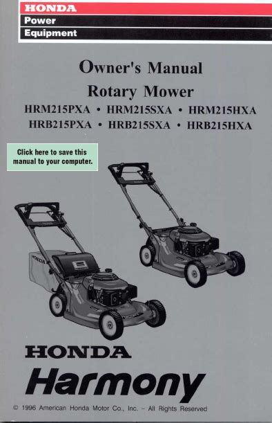 honda mower manual lawn mower manual pdf lawnmowers snowblowers