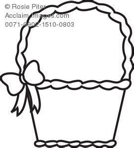 coloring page of empty easter basket clip image description clipart panda free clipart