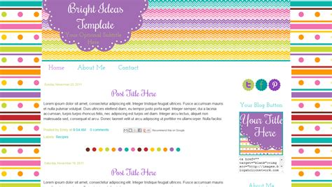 Cute Blog Templates For Teachers Collection Bright Ideas Bd Web Studio Template Ideas