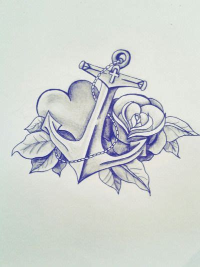 heart and anchor tattoo designs best 25 anchor design ideas on