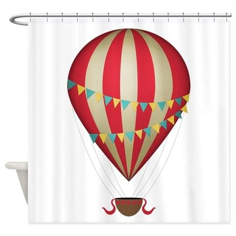 red balloon curtains hot air balloon red shower curtain by be inspired by life