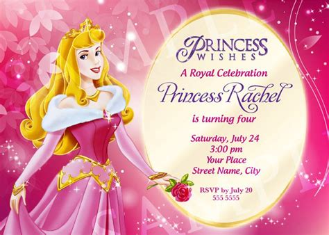 Free Printable Princess Birthday Invitation Templates Princess Birthday Invitation Templates Free